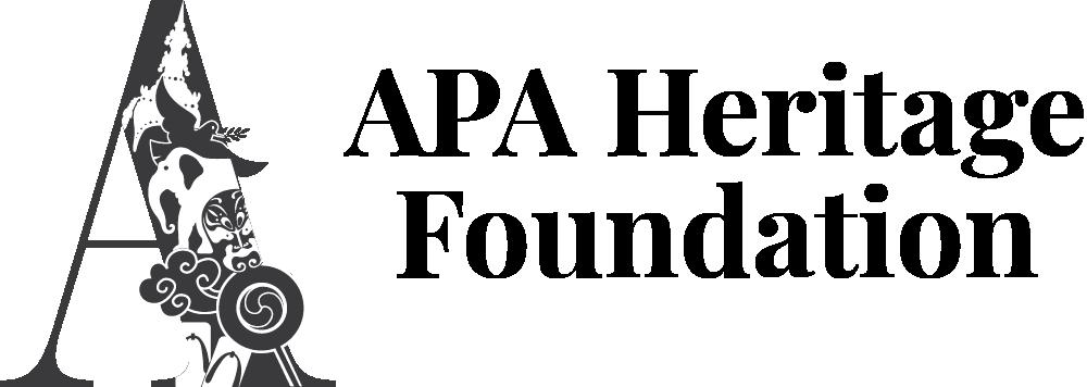 APA Heritage Foundation logo Black